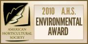 American Horticultural Society Environmental Award 2010