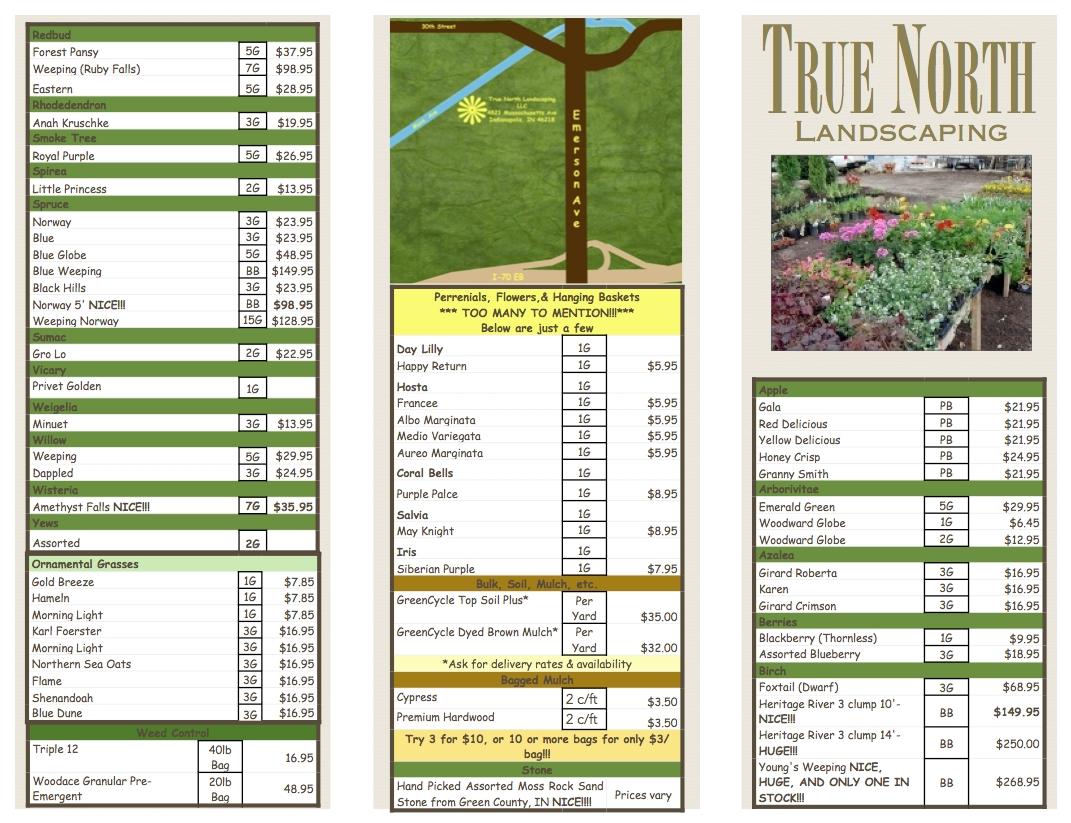 2014 Nursery Pricelist